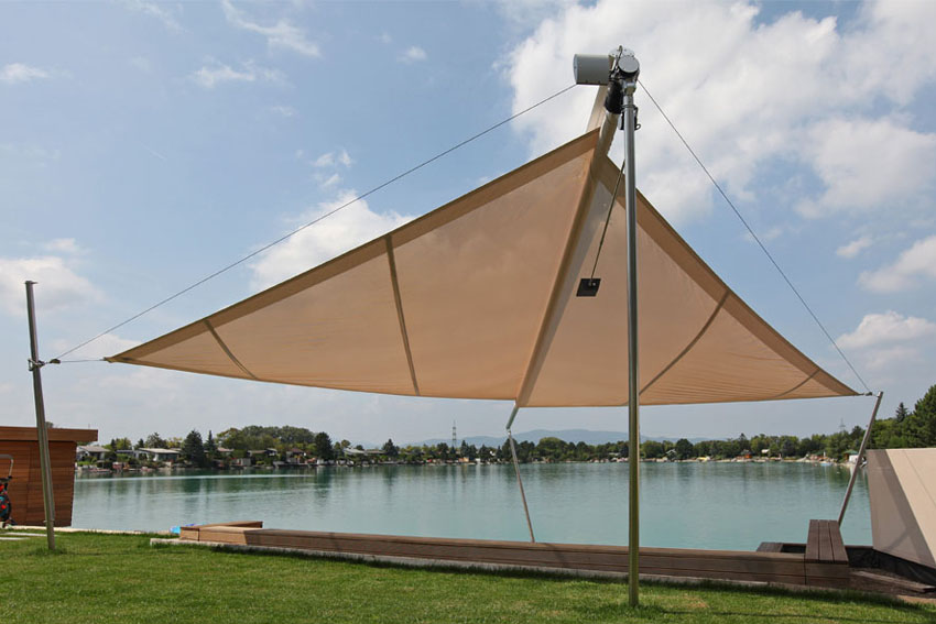 RANKL-Sonnensegel-Badesteg-Sonnenschutz-See-Garten-Schatten